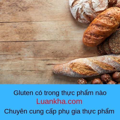 gluten có trong thực phẩm nào