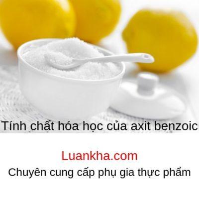 tính chất hóa học của axit benzoic