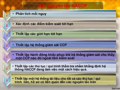 7 nguyên tắc haccp