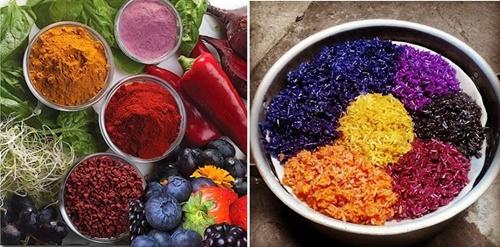 cách tạo màu thực phẩm tự nhiên