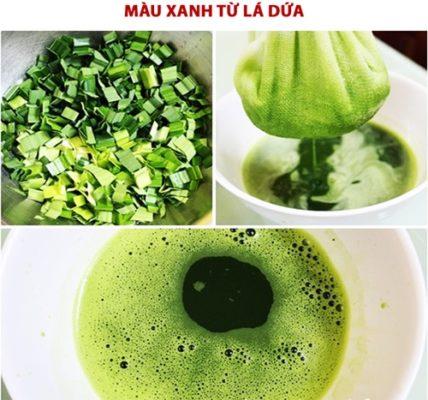 cách làm màu thực phẩm