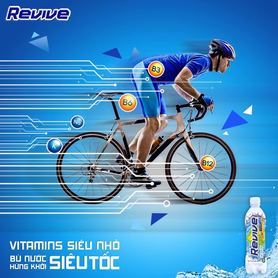 Sử dụng nước uống revive giúp cơ thể dẻo dai, nhanh chóng phục hồi sức lực