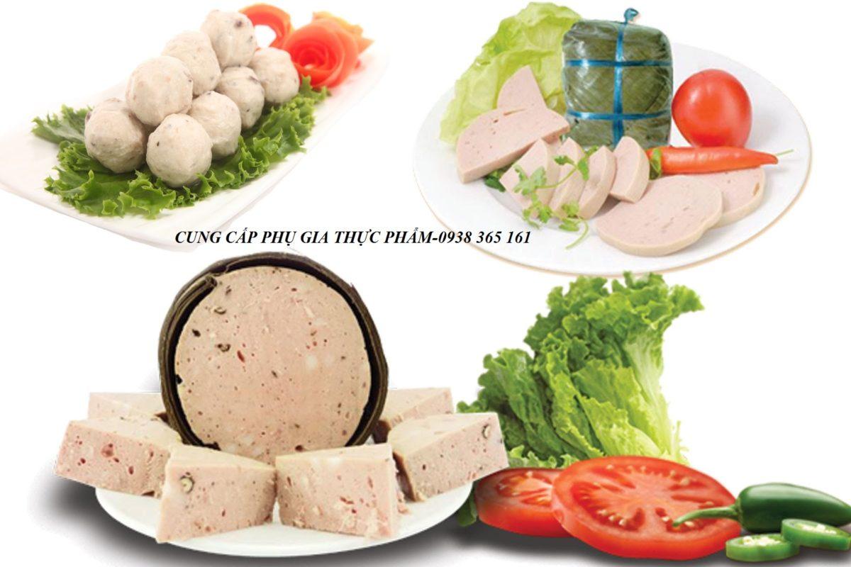 Chất tạo kết dính cho chả lụa, xúc xích, jambon thịt nguội