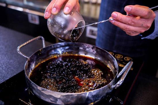 ngâm trân châu trong syrup