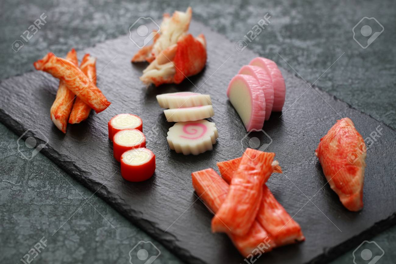 Variety Of Surimi Products, Imitation Crab Sticks, Japanese Food Stock  Photo, Picture And Royalty Free Image. Image 93744713.
