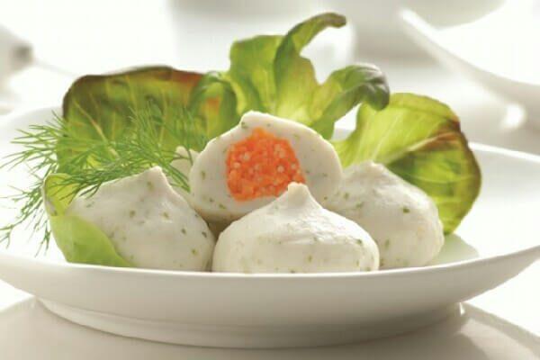 Bánh Bao Trứng Cá Hồi ( màu trắng ) - Nhà Phân Phối Sao Vàng Food