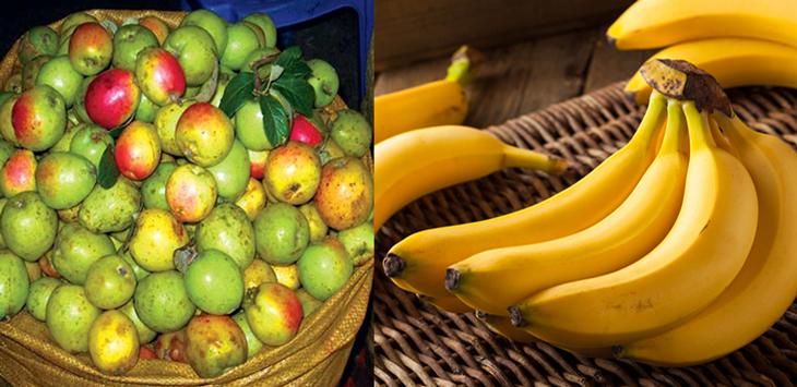 Nguyên liệu món ăn giấm táo và giấm chuối