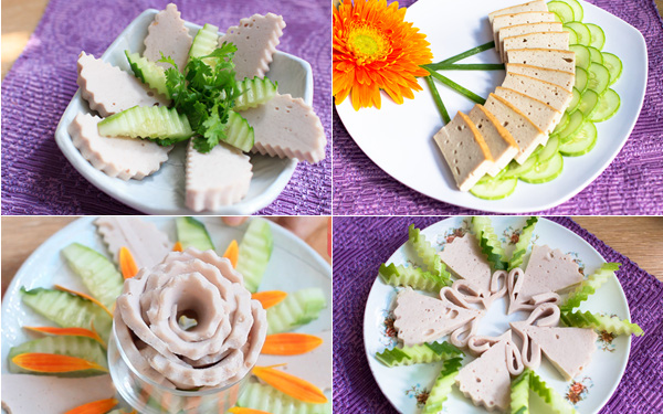Hồng Ngọc Foody: Các cách xếp giò-chả đẹp mắt