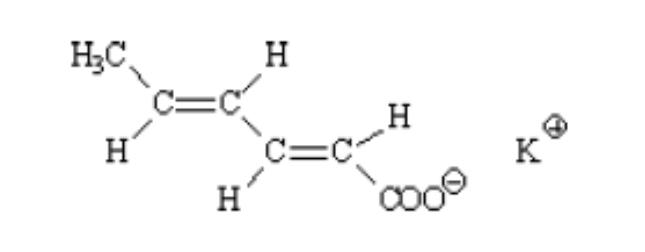 Chất bảo quản E202 - Kali Sorbat - Potassium Sorbate - Cấu tạo phân tử