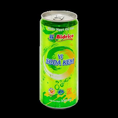 CARBONATED SOFT DRINK CREAM SODA TASTE 330ML CAN - Bidrico