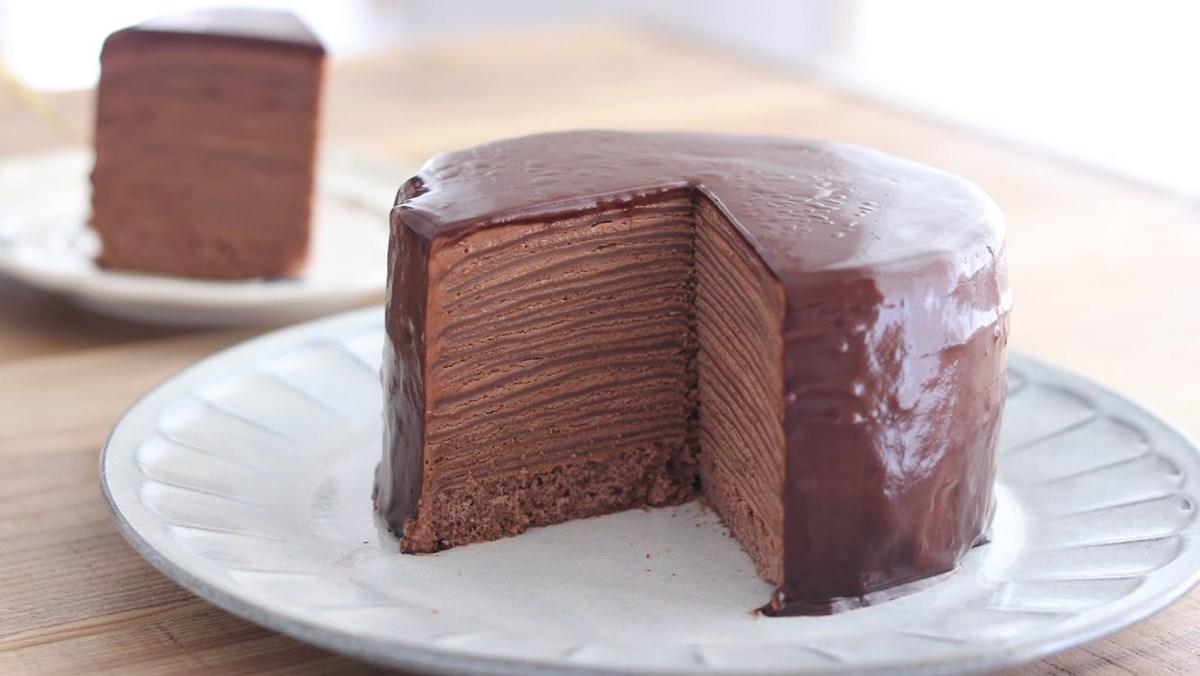 Cách làm bánh crepe socola ngàn lớp đơn giản, béo thơm, dễ làm