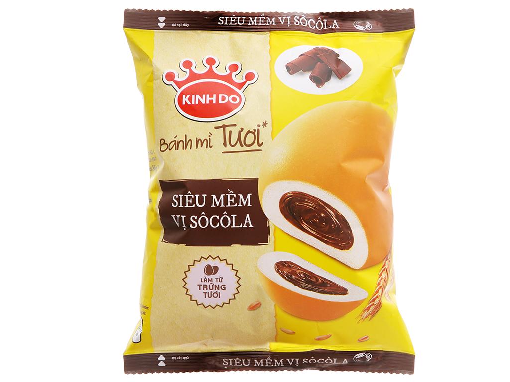 Bánh mì tươi tròn nhân socola Kinh Đô 55g giá tốt